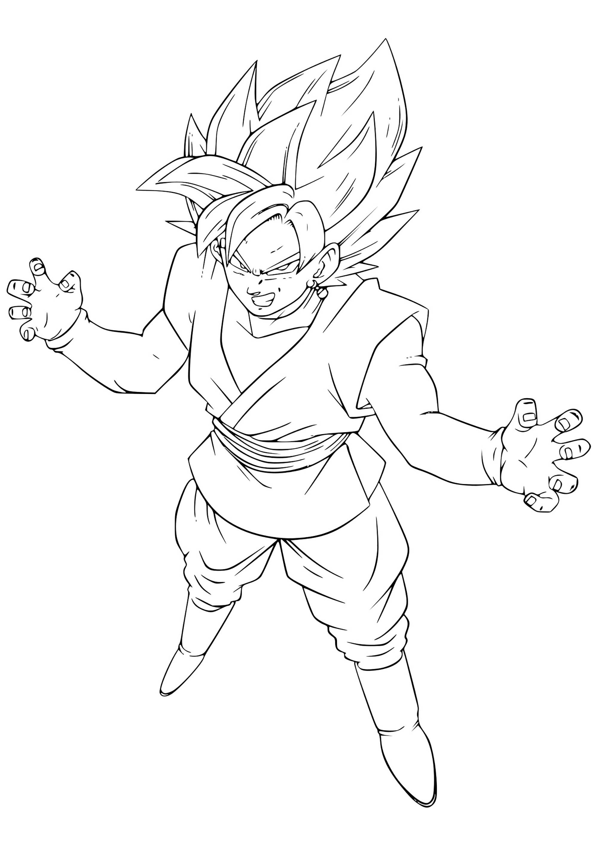 goku printable coloring pages coloring page dragon ball z goku dragon ball goku coloring goku printable pages