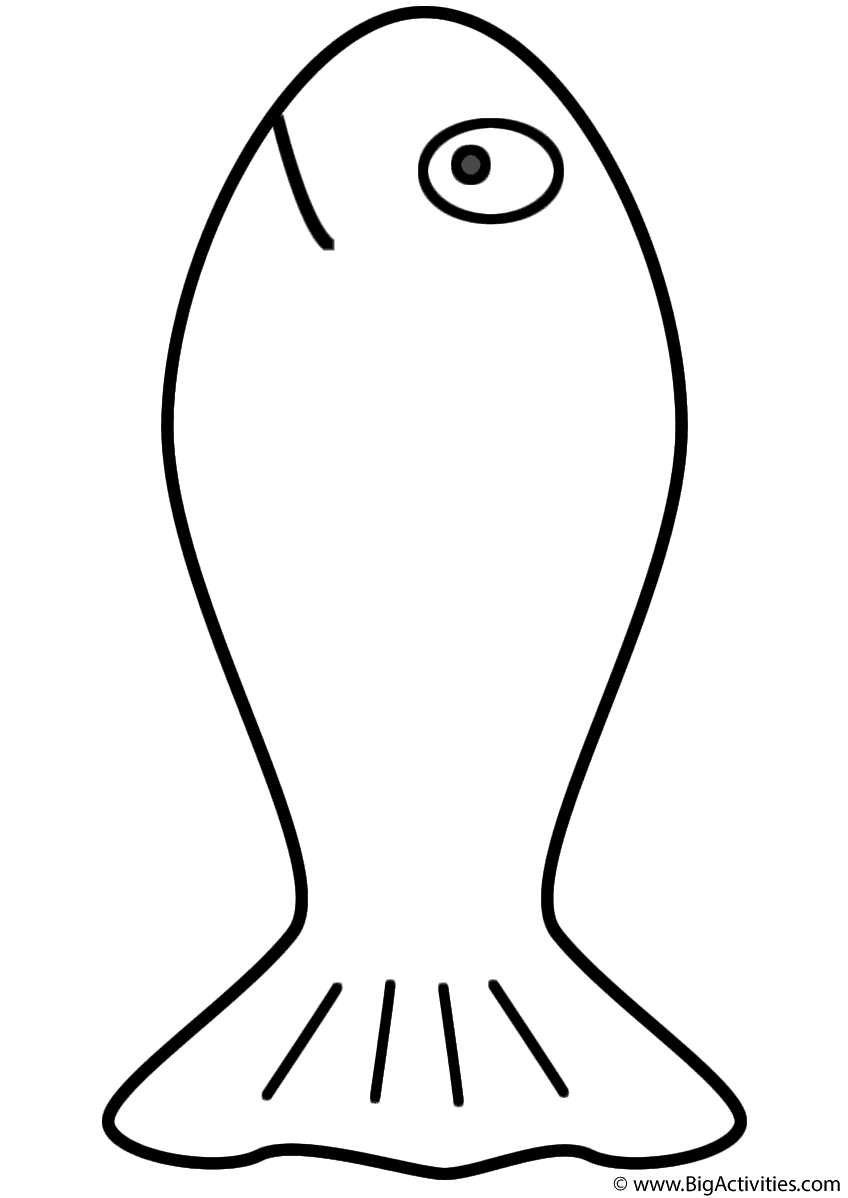 goldfish outline fish outline drawing at getdrawings free download goldfish outline