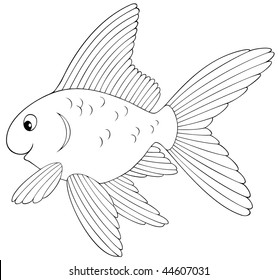 goldfish outline fish outline for classroom therapy use great fish clipart goldfish outline