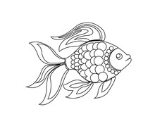 goldfish outline goldfish outline for classroom therapy use great goldfish outline