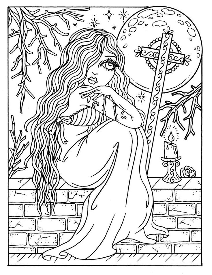 gothic fairy coloring pages gothic fairy coloring pages printable at getcoloringscom fairy coloring gothic pages