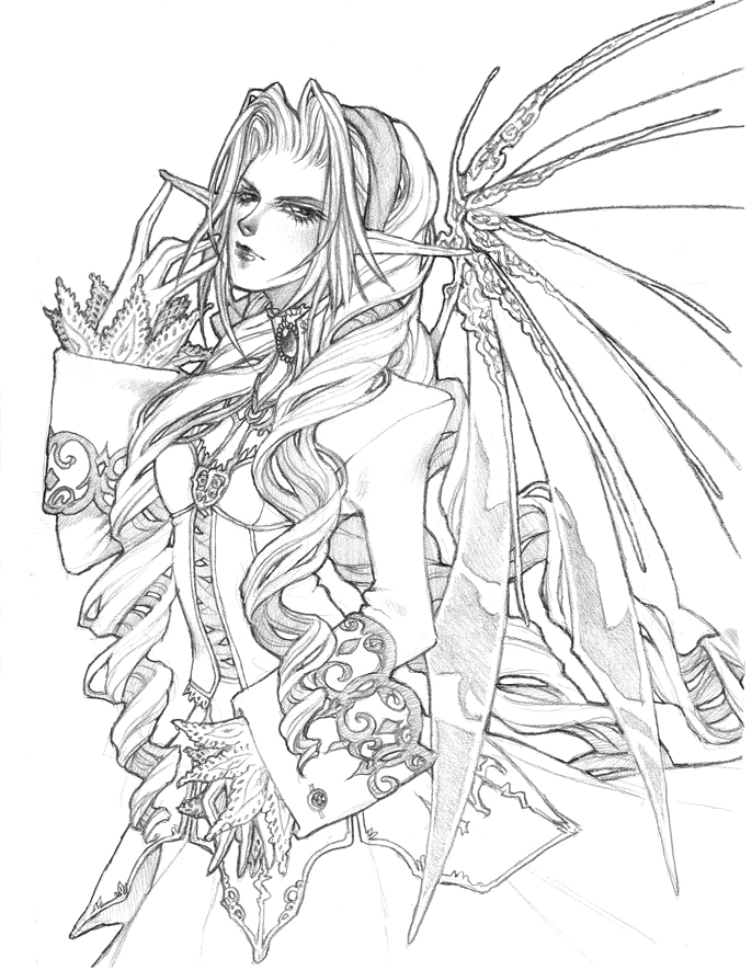 gothic fairy coloring pages realistic fairy coloring pages for adults fantasy pages coloring fairy gothic