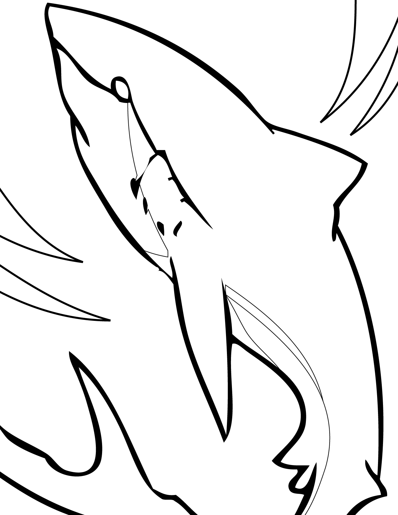 great white shark coloring page great white shark coloring pages to download and print for great coloring white page shark
