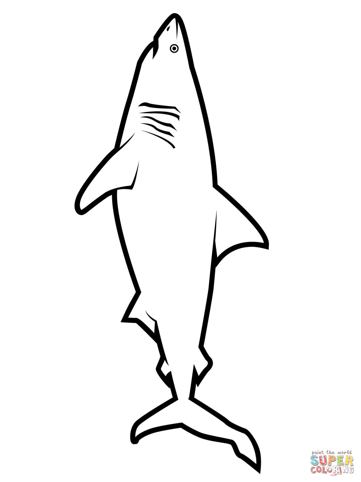 great white shark coloring page hungry shark world coloring pages at getdrawings free page great shark white coloring