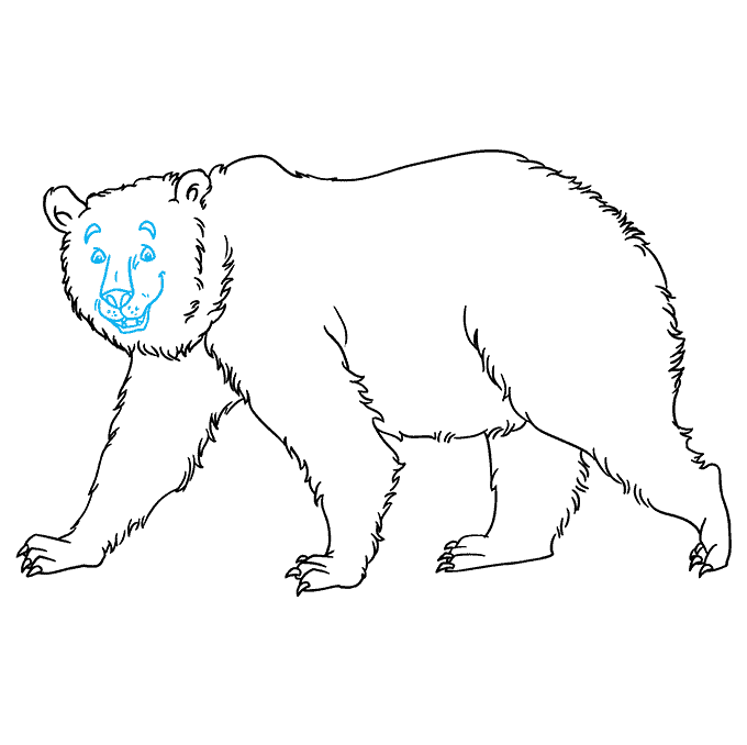 grizzly bear drawing step by step how to draw a grizzly bear really easy drawing tutorial drawing step grizzly by bear step