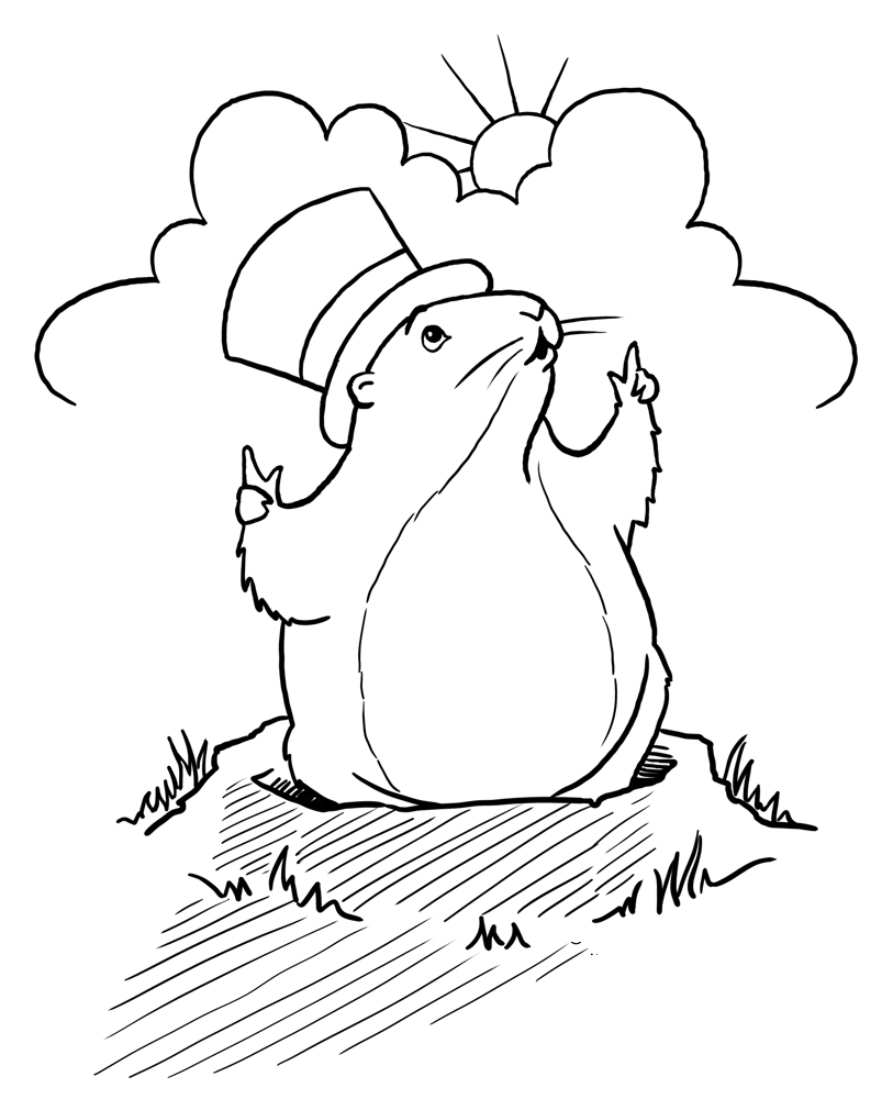 groundhog day coloring page 4 adorable groundhog day coloring pages for kids page coloring groundhog day
