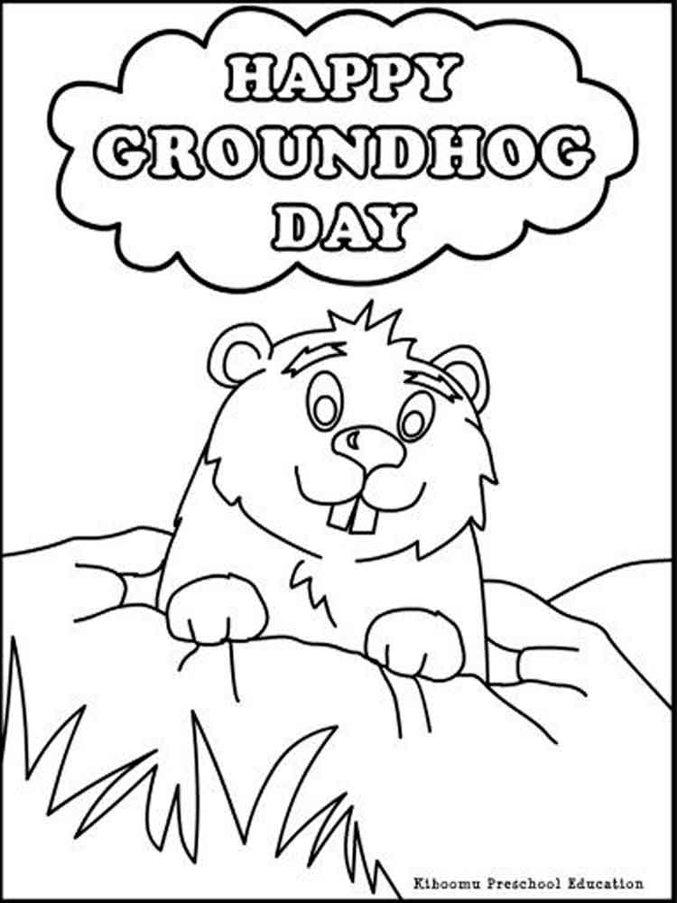 groundhog day coloring page groundhog day coloring pages for kids free 16 coloring page day coloring groundhog