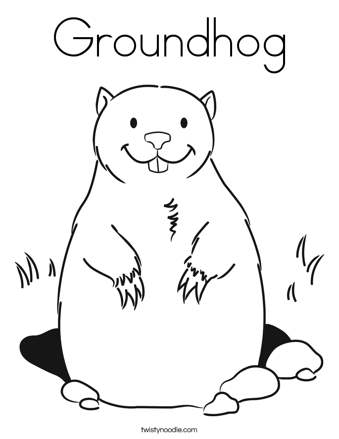 groundhog day coloring page groundhog day printables for kids coloring home page groundhog day coloring