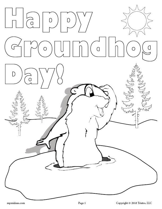 groundhog day coloring page happy groundhog day coloring page groundhog day happy day groundhog coloring page