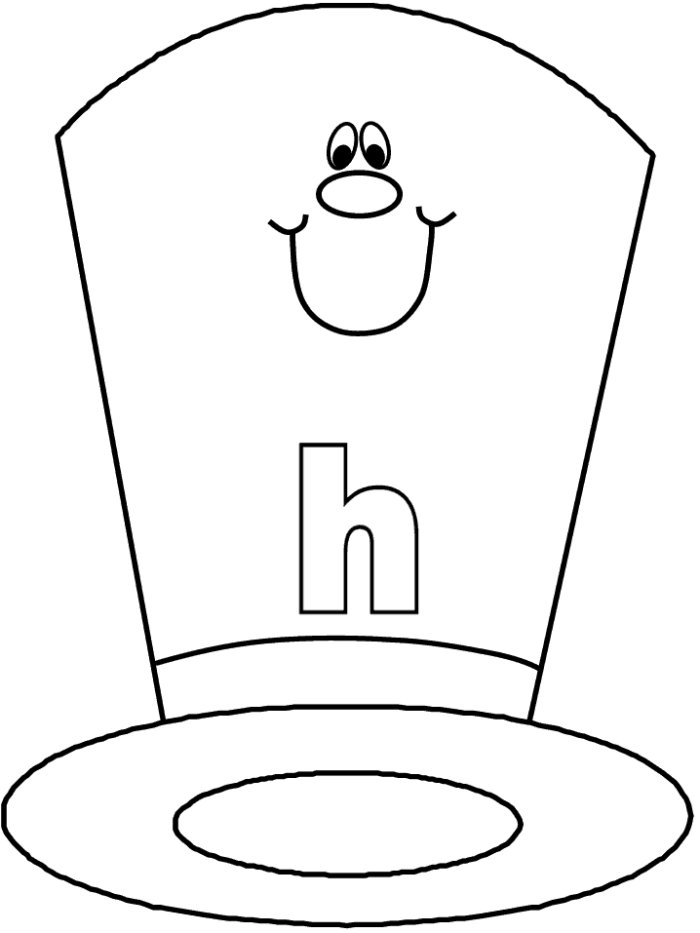 h is for hat alphabet coloring sheet janice39s daycare for h hat is