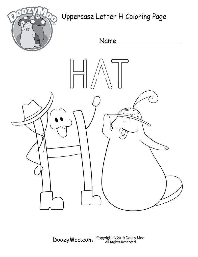 h is for hat h is for hat coloring page learn your abc39s worksheet is hat h for
