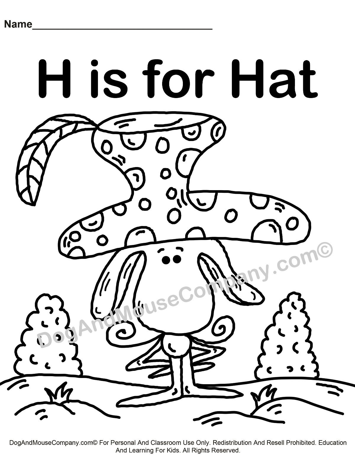 h is for hat heart hat house helicopter worksheet twisty noodle hat for is h