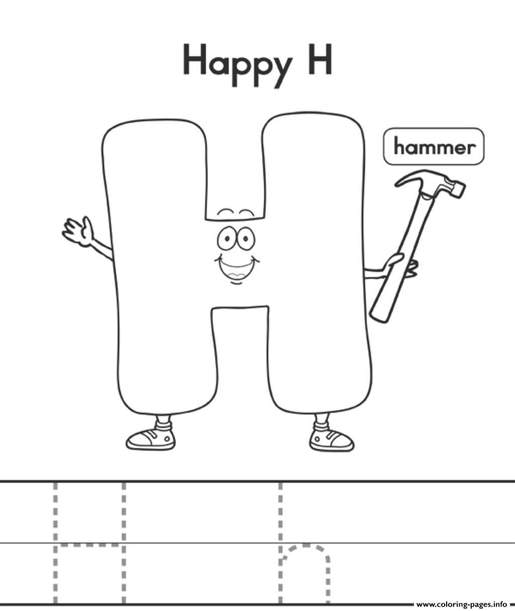 h is for hat letter h is for heart coloring page free printable is h for hat
