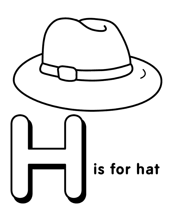 h is for hat letter h topcoloringpagesnet h hat is for