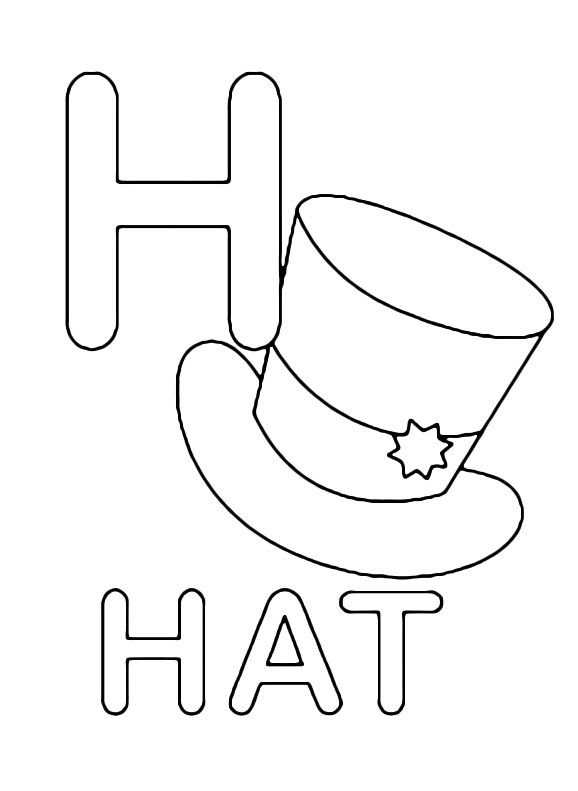 h is for hat top 25 free printable letter h coloring pages online h is hat for
