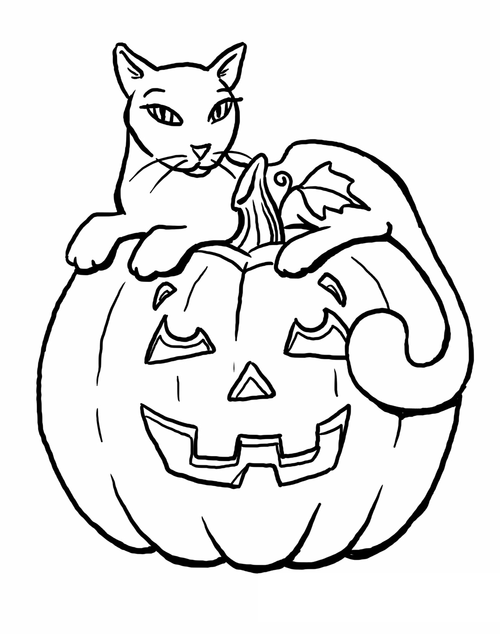 halloween cat coloring page cat face drawing for halloween at getdrawings free download page coloring halloween cat