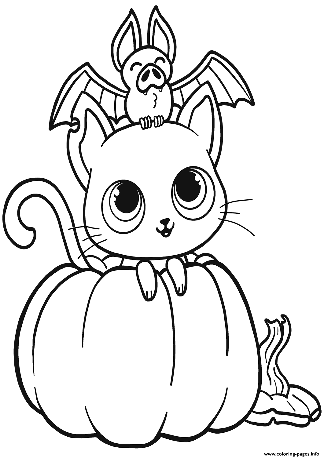 halloween cat coloring page cat with pumpkin coloring page my fairytale town in 2020 coloring halloween cat page