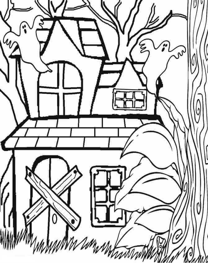 halloween house coloring page 25 free printable haunted house coloring pages for kids page halloween house coloring