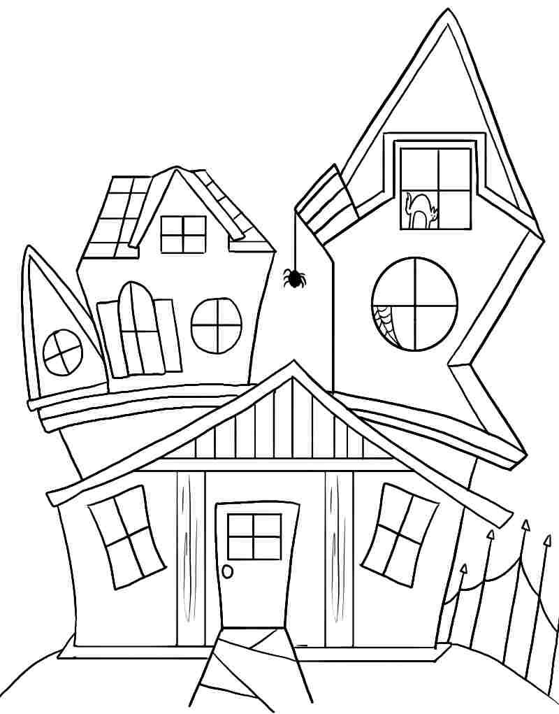 halloween house coloring page free printable coloring sheets halloween haunted house for page coloring house halloween
