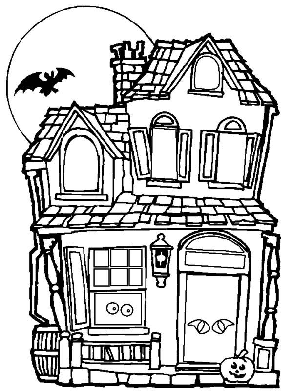 halloween house coloring page haunted house coloring page spooky haunted house halloween coloring page house