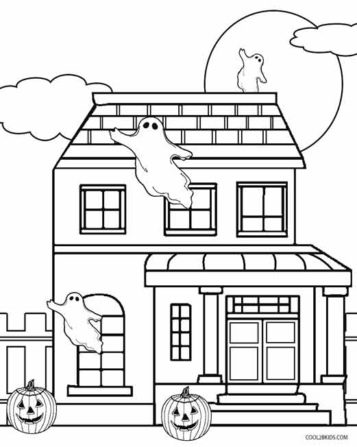 halloween house coloring page printable haunted house coloring pages for kids cool2bkids page coloring halloween house