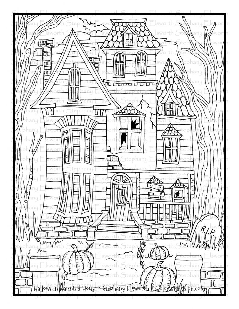 halloween house coloring page spooky and haunted halloween day house coloring page netart house coloring page halloween