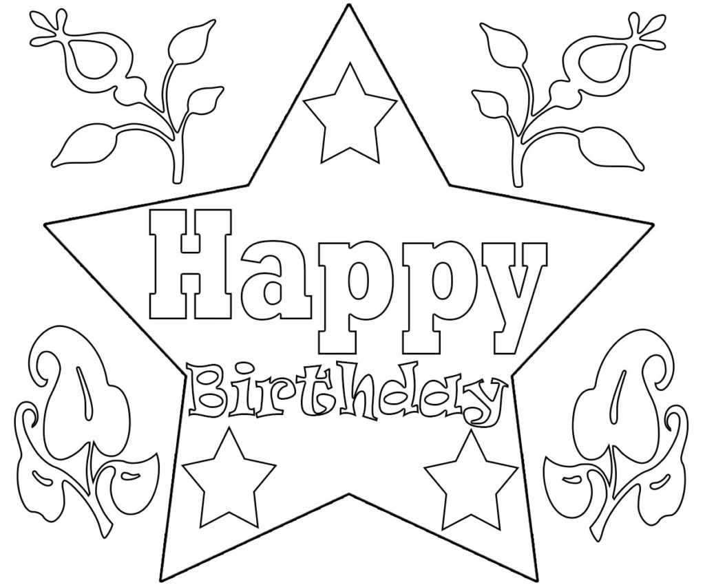 happy birthday coloring pages printable 10 best free printable happy birthday coloring pages for kids pages happy coloring printable birthday