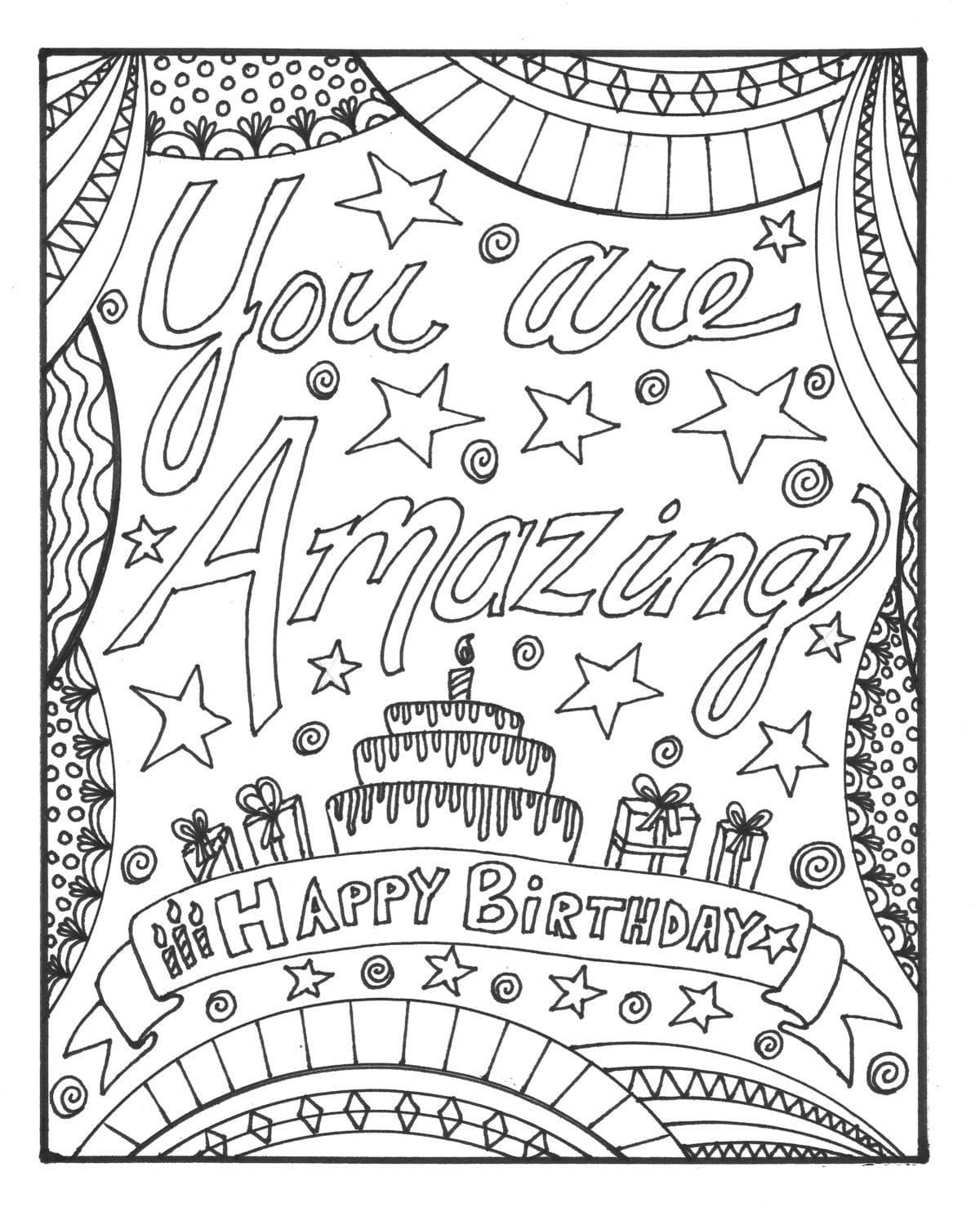 happy birthday coloring pages printable 25 free printable happy birthday coloring pages birthday coloring pages happy printable