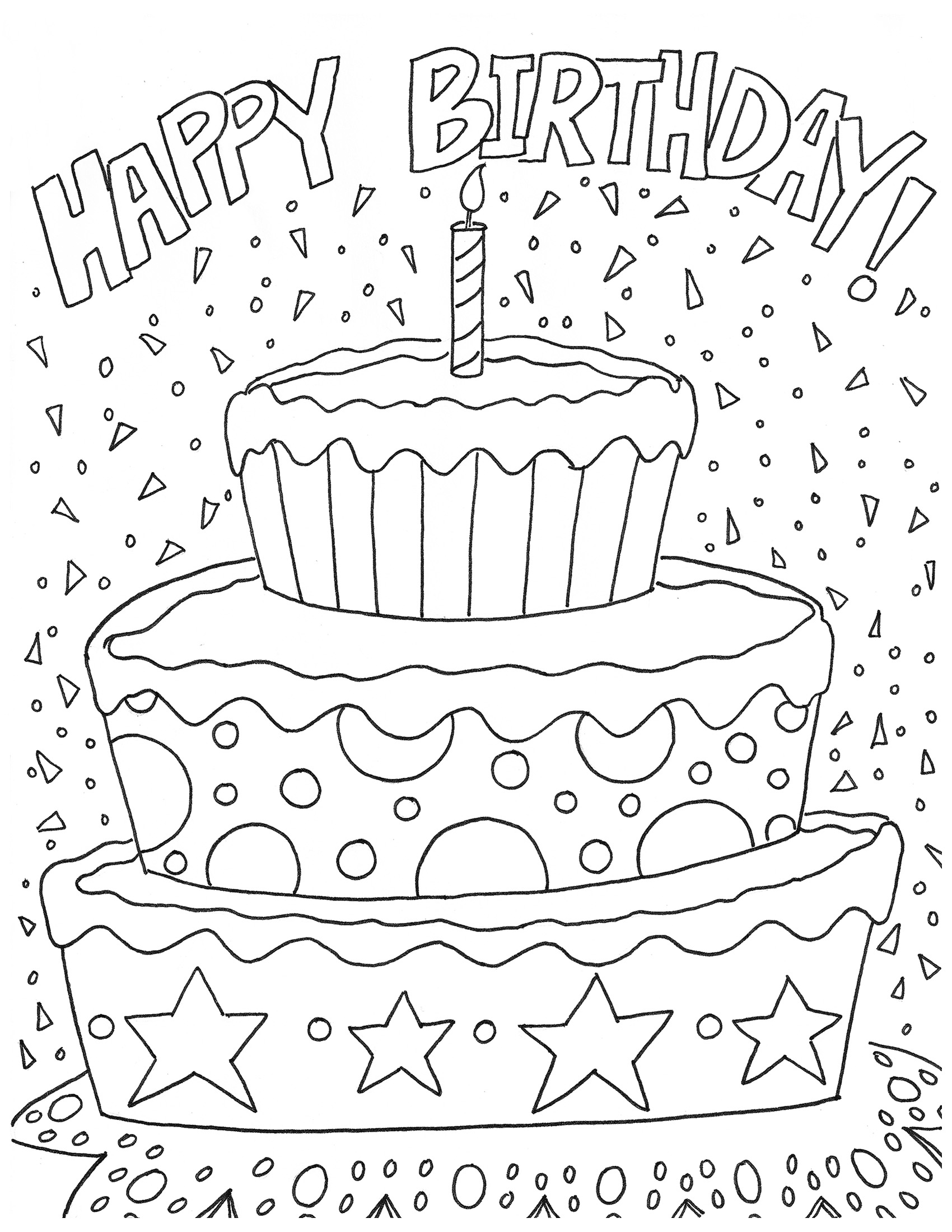 happy birthday coloring pages printable 25 free printable happy birthday coloring pages printable coloring happy pages birthday