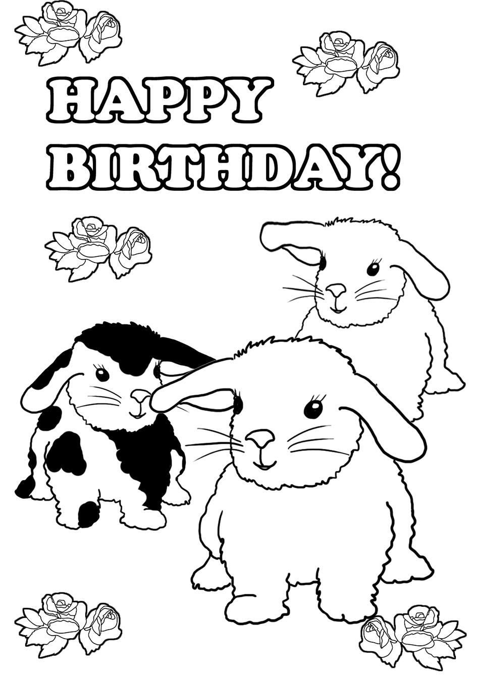 happy birthday coloring pages printable 40 free printable happy birthday coloring pages coloring happy pages coloring printable birthday