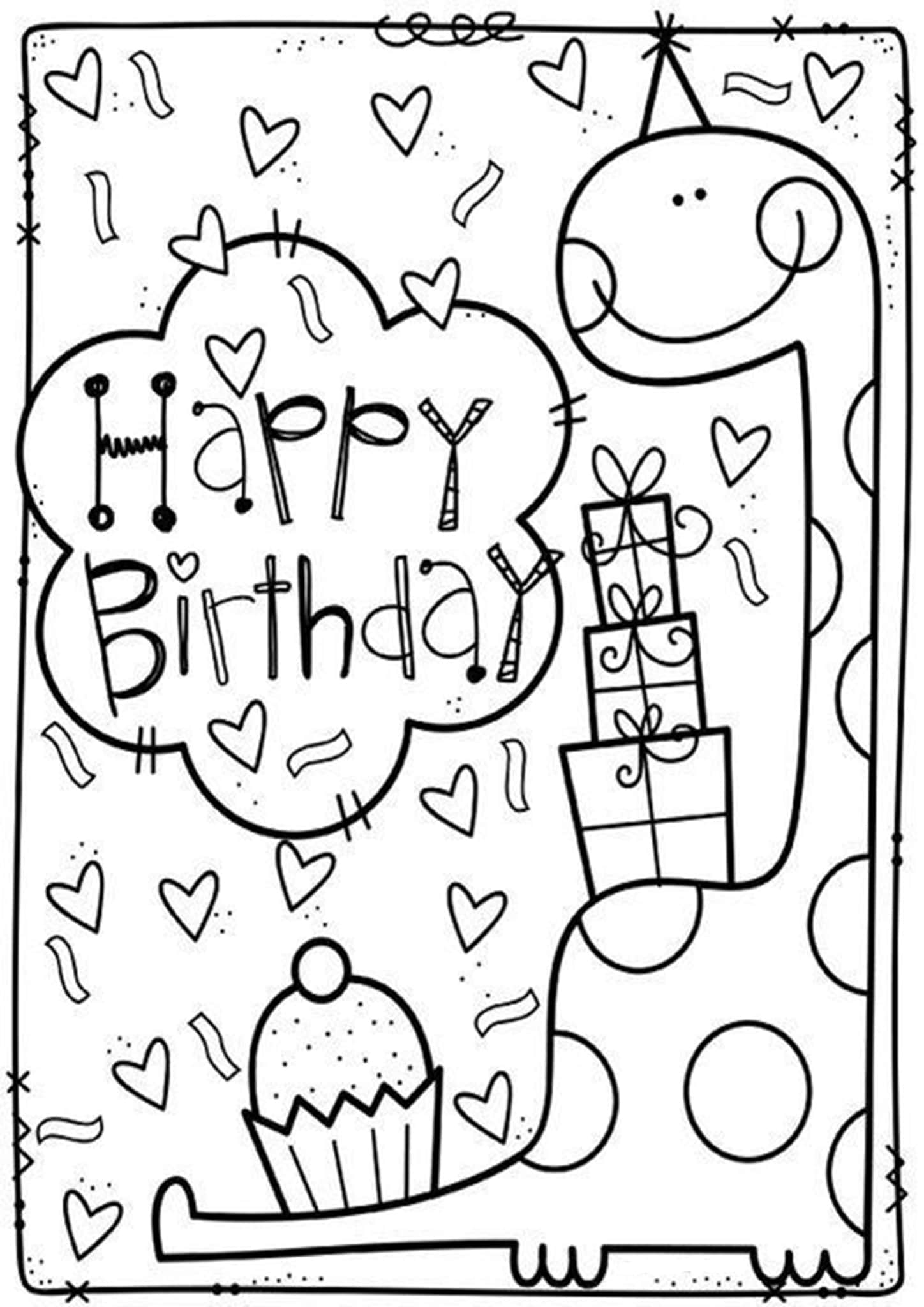 happy birthday coloring pages printable free easy to print happy birthday coloring pages tulamama coloring pages happy printable birthday