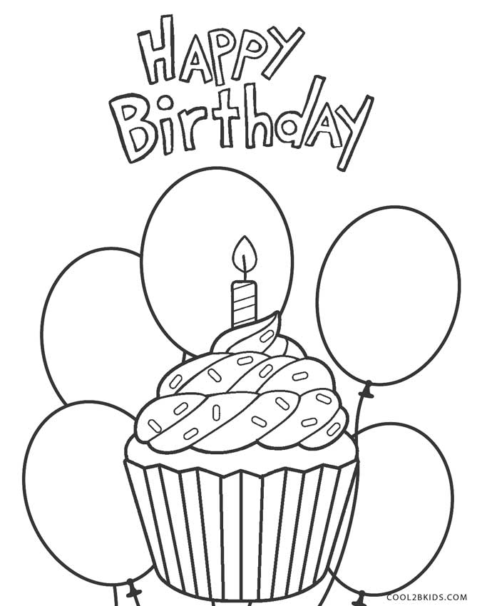 happy birthday coloring pages printable free printable happy birthday coloring pages for kids printable coloring birthday happy pages
