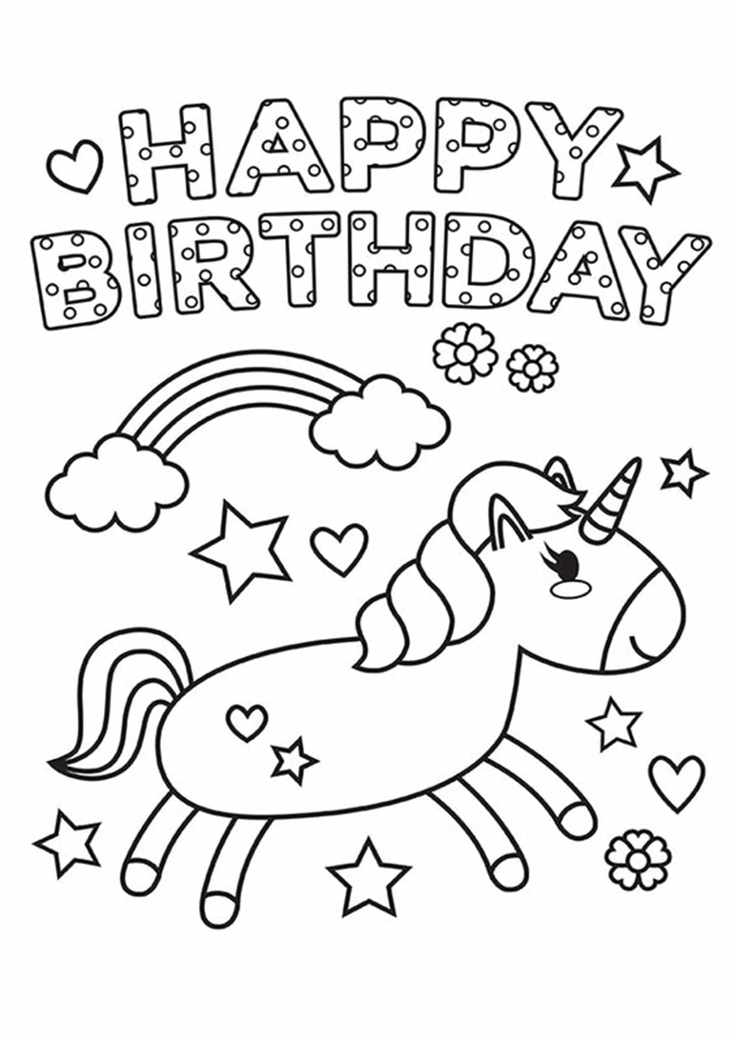 happy birthday coloring pages printable happy birthday coloring pages to download and print for free coloring printable birthday happy pages