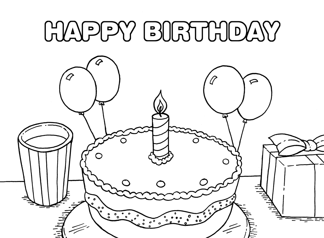 happy birthday coloring pages printable happy holidays coloring pages printable coloring home happy birthday coloring printable pages