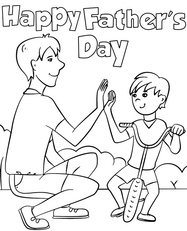 happy fathers day coloring pages happy fathers day coloring pages for the holiday guide fathers pages coloring happy day