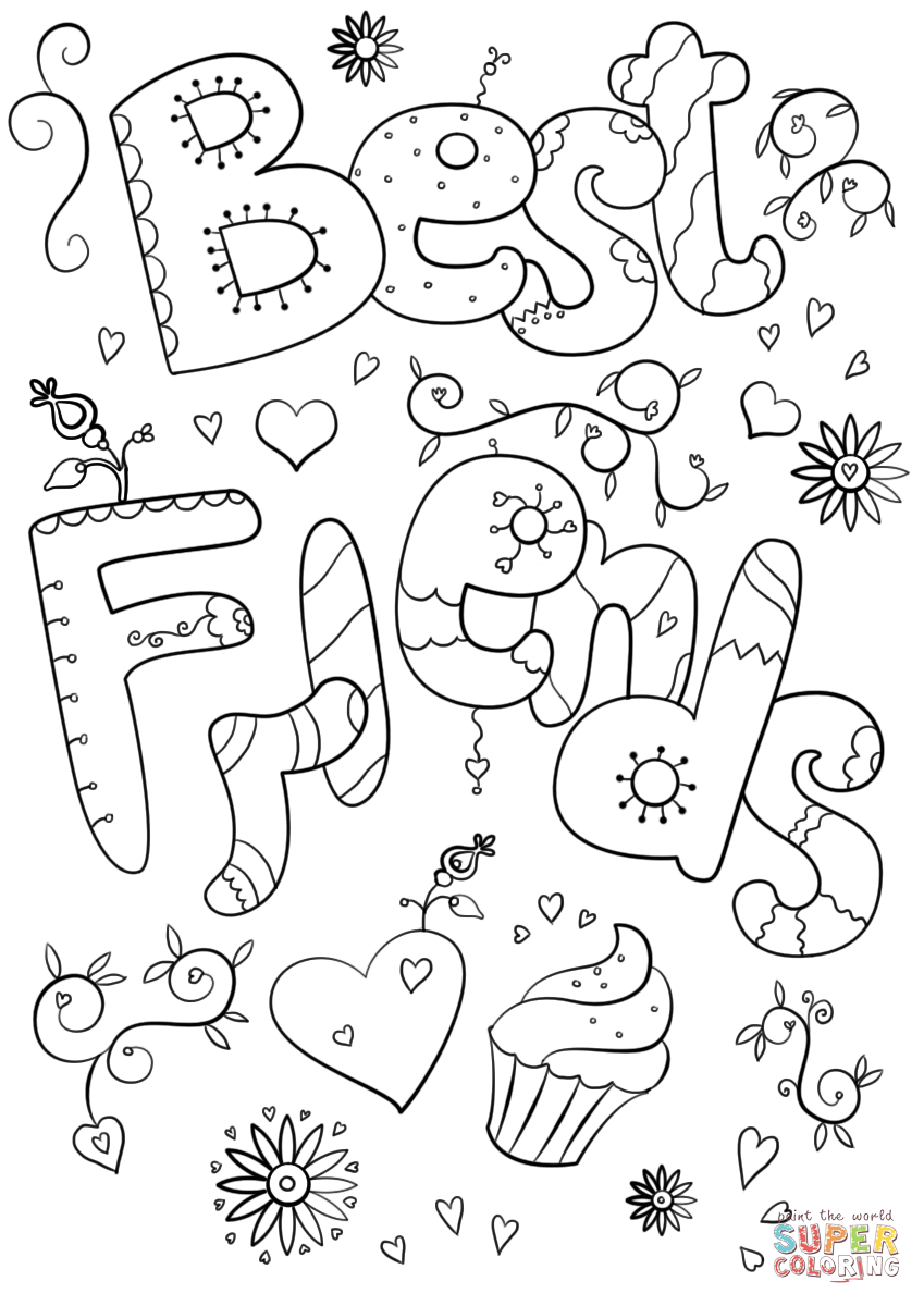 happy friendship day coloring pages best freinds coloring page free printable coloring pages coloring friendship pages happy day