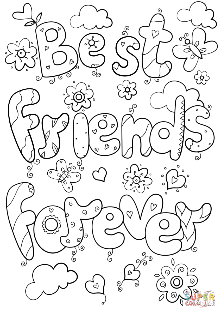 happy friendship day coloring pages best friends forever coloring page free printable friendship day coloring pages happy