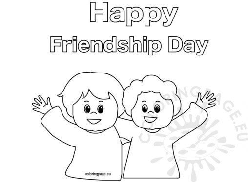 happy friendship day coloring pages free coloring pages friendship day coloring pages friendship happy coloring pages day