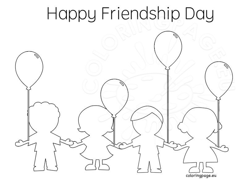 happy friendship day coloring pages friendship day coloring pages holiday coloring pages coloring happy pages day friendship