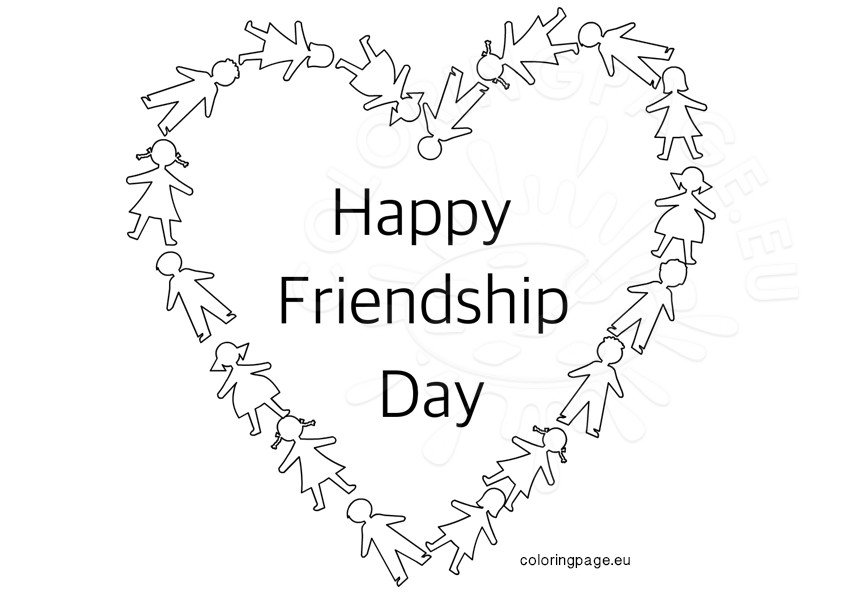 happy friendship day coloring pages happy friendship day images for my beautiful friends pages coloring friendship happy day