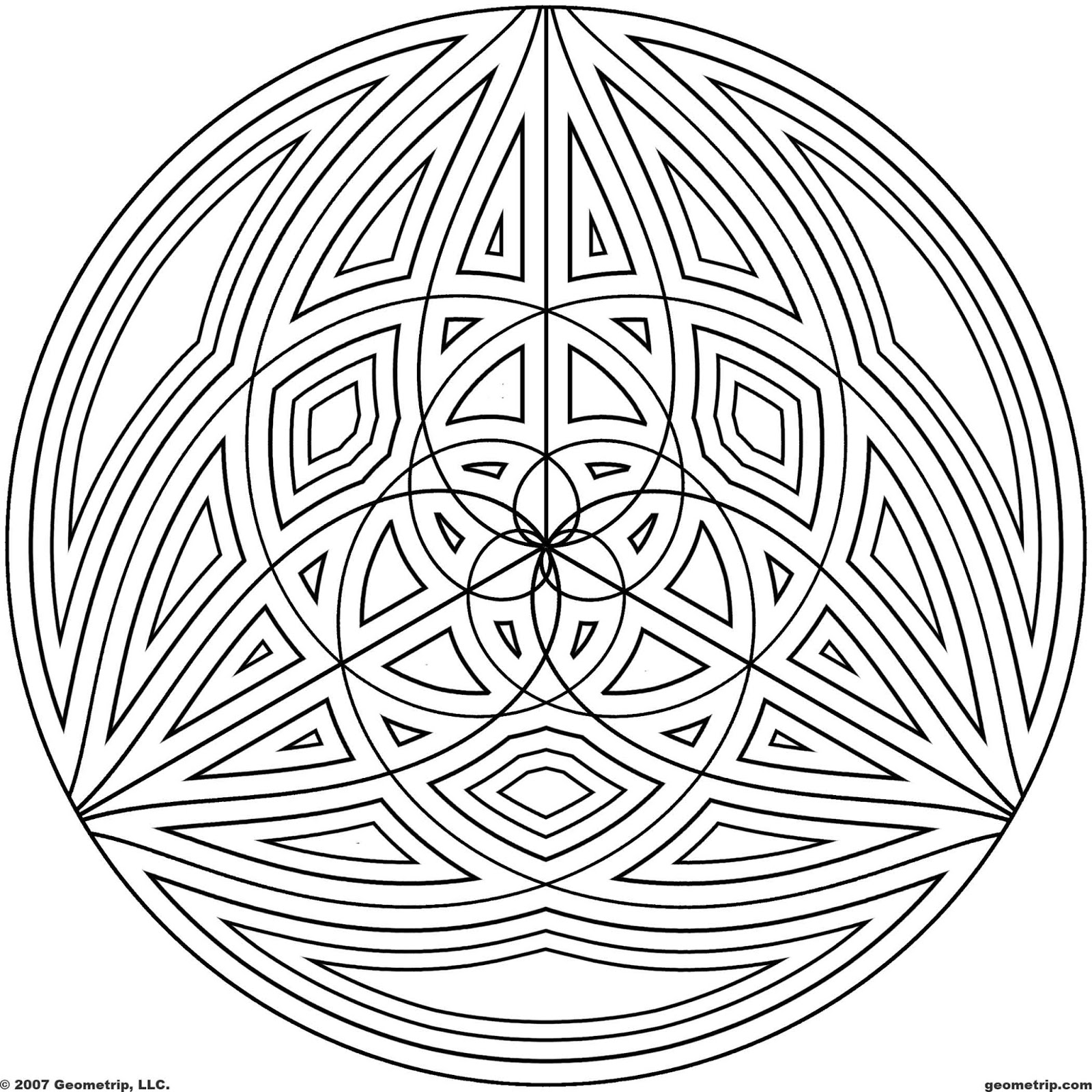 hard design coloring pages free printable geometric coloring pages for adults coloring hard design pages