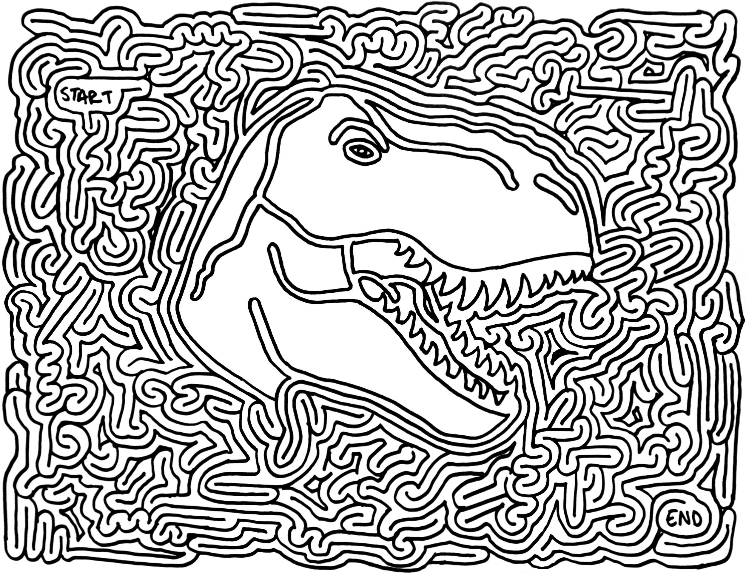 hard dinosaur coloring pages favors dinosaur printable maze printable mazes maze dinosaur coloring pages hard