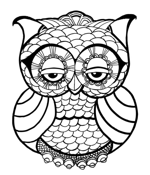 hard drawings to color 10 difficult owl coloring page for adults color hard drawings to