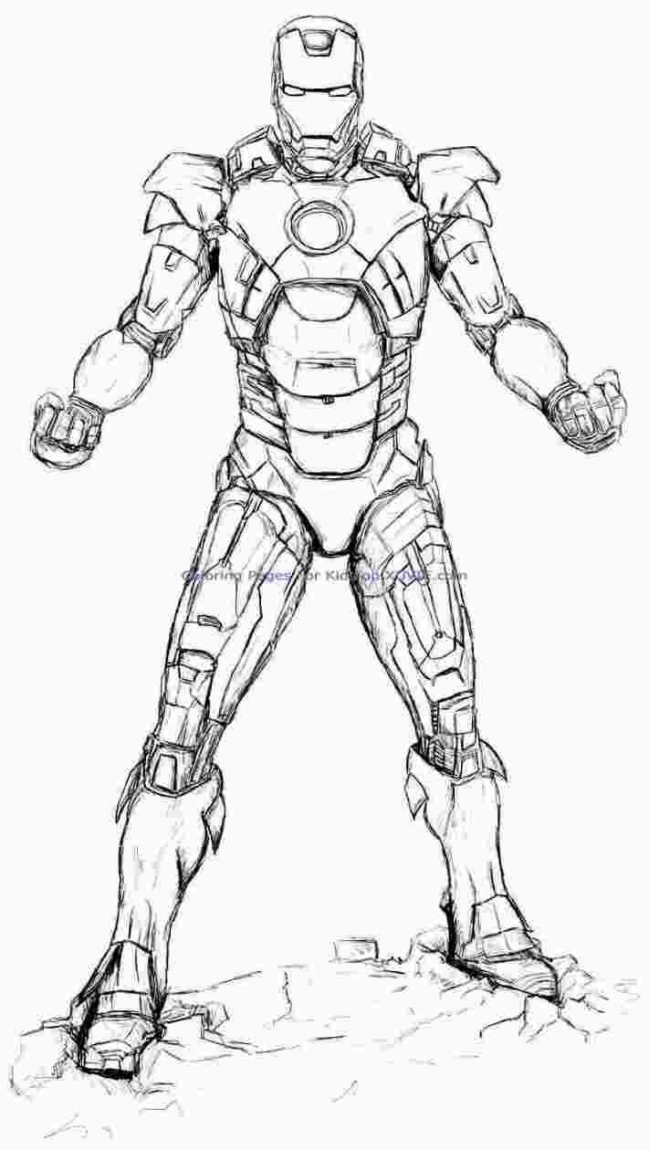 Hard iron man coloring pages