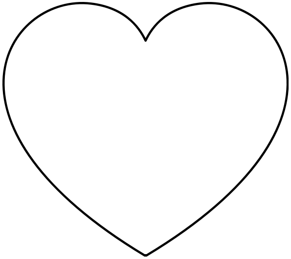 heart clipart coloring page heart clip art at clkercom vector clip art online coloring page heart clipart