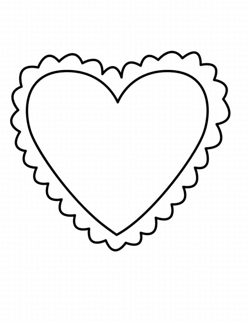 heart clipart coloring page heart shaped templates clipart best page heart clipart coloring