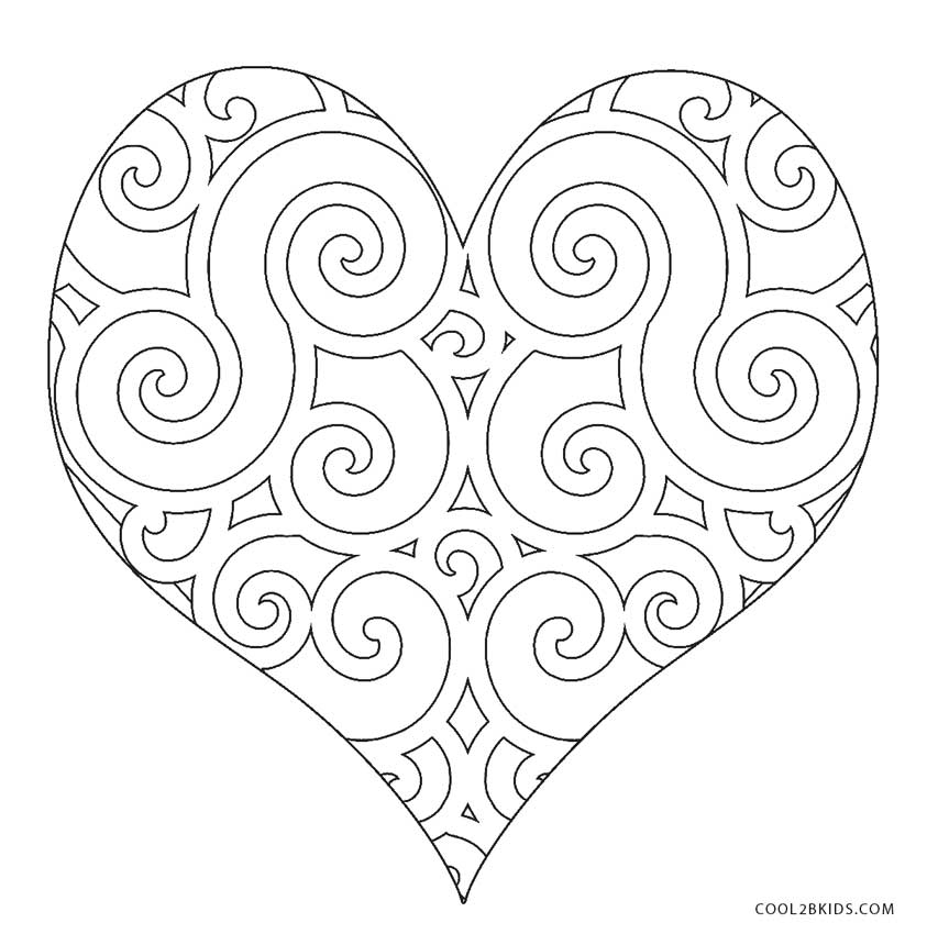heart color pages 35 free printable heart coloring pages color heart pages