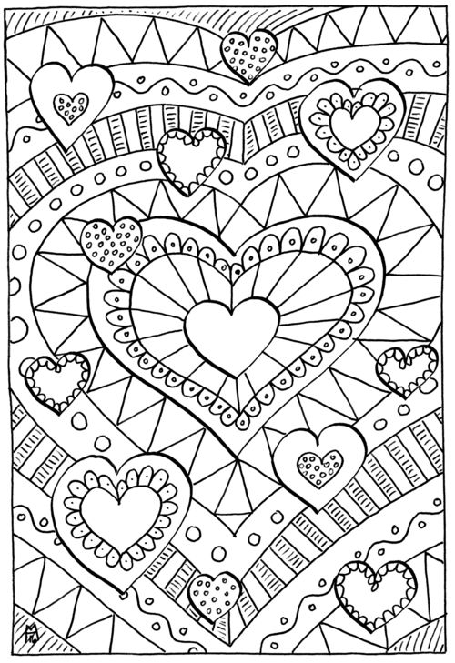 heart color pages detailed heart coloring pages at getcoloringscom free color heart pages