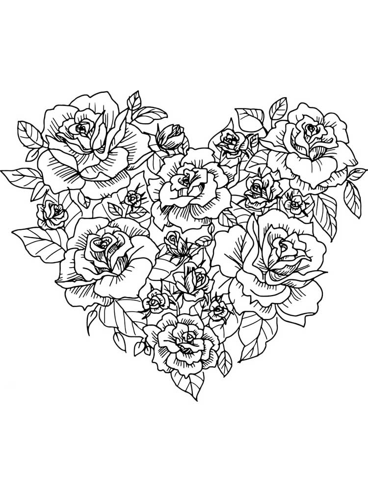 heart color pages free hearts coloring pages for adults printable to color pages heart
