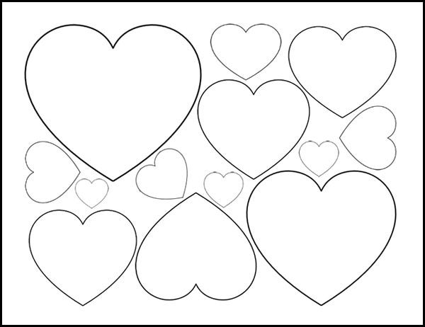 heart printable easy heart coloring pages for kids stripe patterns printable heart